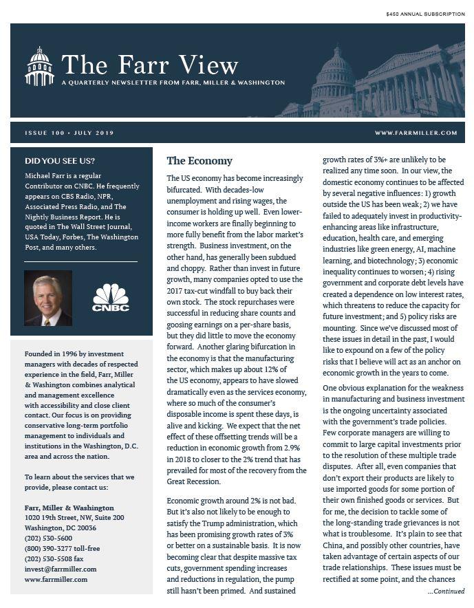 FarrView Newsletter – Farr, Miller & Washington